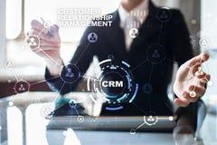 CRM Διοικητική έννοια σχέσης πελατών Εξυπηρέτηση πελατών και σχέση Στοκ εικόνα με δικαίωμα ελεύθερης χρήσης