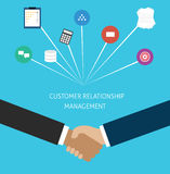 crm διοικητική σχέση πελατών Στοκ εικόνες με δικαίωμα ελεύθερης χρήσης