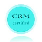 CRM аттестовало дизайн концепции значка или изображения символа с делом Стоковые Изображения RF