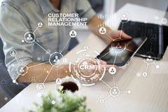 CRM Концепция управления отношения клиента Обслуживание клиента и отношение Стоковое Изображение RF
