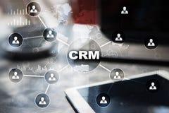CRM Концепция управления отношения клиента Обслуживание клиента и отношение стоковое фото rf