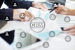 CRM Концепция управления отношения клиента Обслуживание клиента и отношение стоковое изображение