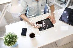 CRM Концепция управления отношения клиента Обслуживание клиента и отношение стоковые фото