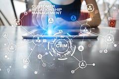 CRM Концепция управления отношения клиента Обслуживание клиента и отношение стоковые изображения