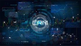 CRM - Abnehmer-Verhältnis-Management lizenzfreie abbildung