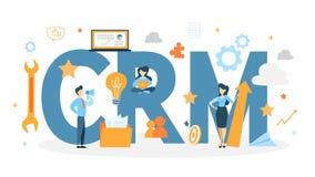 CRM begreppsanimering stock illustrationer