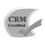 CRM bestätigte Ikonen- oder Symbolbildkonzeptdesign für Geschäft Stockbild