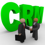 CRM - Business People Handshake Royalty Free Stock Images