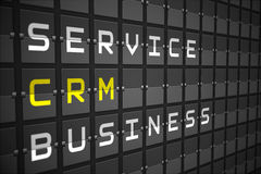 CRM buzzwords on black mechanical board Stock Images