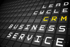 CRM buzzwords on black mechanical board Royalty Free Stock Photos