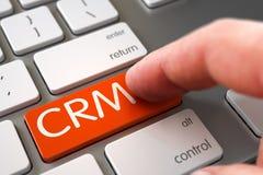 CRM - Conceito chave de teclado 3d Imagens de Stock
