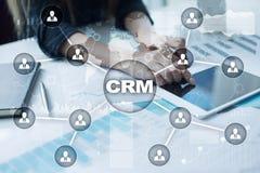 CRM Conceito do gerenciamento de relacionamento com o cliente Serviço ao cliente e relacionamento ilustração stock