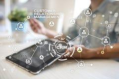 CRM Conceito do gerenciamento de relacionamento com o cliente Serviço ao cliente e relacionamento fotografia de stock