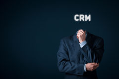 CRM concept Stock Image