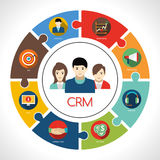 Crm Concept Illustration Royalty Free Stock Images