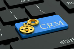 CRM concept on keyboard button Stock Photo