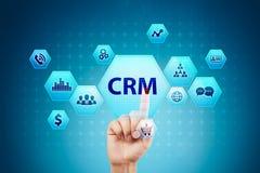 CRM Concepto de la gestión de la relación del cliente Servicio de atención al cliente y relación foto de archivo