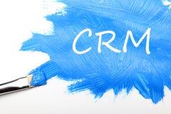 CRM Concetto del customer relationship management immagini stock