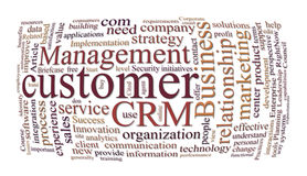 Crm customer relations management Royalty Free Stock Images