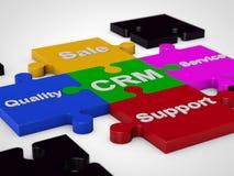 CRM Customer Relationship Management. Over white background Stock Image