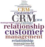 CRM Customer relationship management Immagine Stock