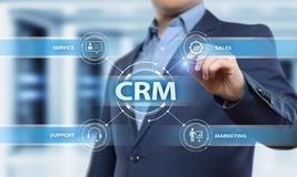 CRM Customer Relationship Management Business Internet Techology Concept.  Royalty Free Stock Image