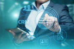CRM Customer Relationship Management Business Internet Techology Concept.  Stock Photography