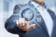 CRM Customer Relationship Management Business Internet Techology Concept.  Royalty Free Stock Images
