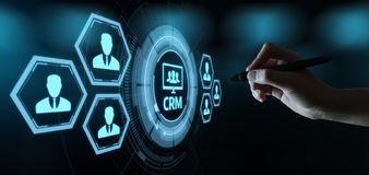 CRM Customer Relationship Management Business Internet Techology Concept royalty free stock photography