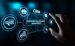 Free CRM Customer Relationship Management Business Internet Techology Concept Royalty Free Stock Photography - 137888377