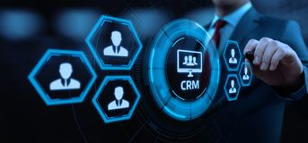 CRM Customer Relationship Management Business Internet Techology Concept stock image