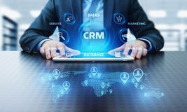 CRM Customer Relationship Management Business Internet Techology Concept Royalty Free Stock Images