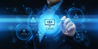 CRM Customer Relationship Management Business Internet Techology Concept stock image