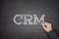 CRM - Customer Relationship Management. Concept on blackboard Stock Photos