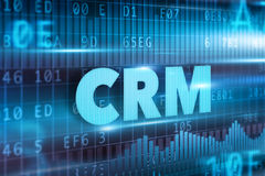 CRM - Customer Relationship Management. Concept blue text Royalty Free Stock Images