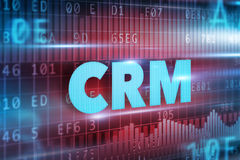 CRM - Customer Relationship Management. Concept blue text Stock Photo