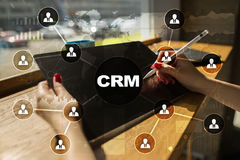 CRM. Customer relationship management concept. Customer service and relationship Royalty Free Stock Photography