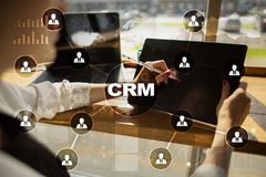 CRM. Customer relationship management concept. Customer service and relationship Stock Photography