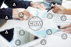 CRM. Customer relationship management concept. Customer service and relationship. CRM. Customer relationship management concept. Customer service and Stock Image