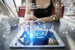 CRM. Customer relationship management concept. Customer service and relationship. CRM. Customer relationship management concept. Customer service and Royalty Free Stock Photo