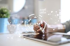 CRM. Customer relationship management concept. Customer service and relationship. CRM. Customer relationship management concept. Customer service and Stock Images