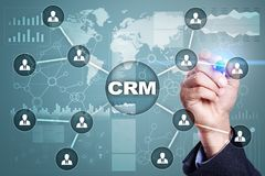 CRM. Customer relationship management concept. Customer service and relationship Royalty Free Stock Photo