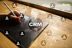 CRM. Customer relationship management concept. Customer service and relationship Royalty Free Stock Photos