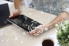 CRM. Customer relationship management concept. Customer service and relationship. CRM. Customer relationship management concept. Customer service and Royalty Free Stock Photography