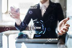 CRM. Customer relationship management concept. Customer service and relationship. CRM. Customer relationship management concept. Customer service and Royalty Free Stock Image
