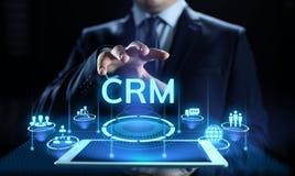 CRM - Customer Relationship Management. Enterprise Communication and planning software concept. royalty free illustration