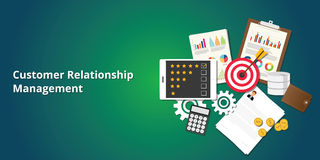 Crm customer relationship management Stock Image