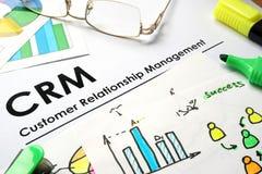 CRM customer relationship management Stock Photo