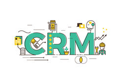 CRM : Customer relationship management Royalty Free Stock Image