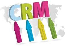 CRM. Customer relationship marketing concept Stock Image
